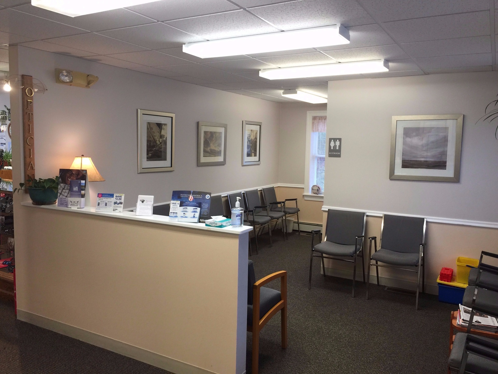 Eye Doctor Waiting Area Rockland Maine